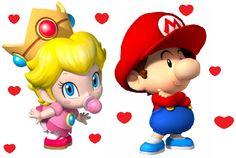 Oh my Goodness! I love Baby Mario and Baby Princess Peach! Super Mario Bros, Super Mario Brothers, Super Smash Bros, Peach Mario, Mario And Princess Peach, Baby Princess, Mario Y Luigi, Mario Run, Image Mario
