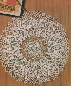 Doily PDF Crochet Pattern : Round Doily Mat . Mandala . Placemat . Tablemat . Doiley . Doilies . Decorative Mat . Digital Download by PDFKnittingCrochet on Etsy