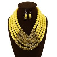 Item Type:Jewelry Sets Fine or Fashion:Fashion Included Additional Item Description:Necklace/Earring
