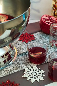Pomegranate Lime Rum Punch #CaptainsTable by LittleRedKitchen, via Flickr