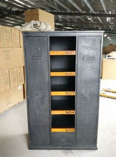 industrial vintage lockers for the home projects by nat pinterest vintage lockers. Black Bedroom Furniture Sets. Home Design Ideas