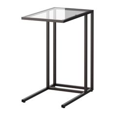 VITTSJÖ Laptop stand IKEA Made of tempered glass and steel, durable materials that give an open, airy feel.