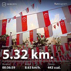 Celebration continues My recent activity! - 5.32 km Running #health #sport #runstagram  #runstagrammer #run #running #runnerscommunity #runnerinspiration #runforabettertomorrow #sgrunners #instarunner #instarunners #instarun #worlderunners