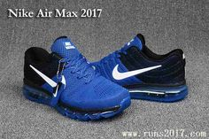 41feae2276 Nike Air Max 2017 Men Sapphire Blue Black KPU Shoes Nike Air Shoes, Running  Shoes