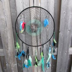 Large dramcatcher Black and green dream catcher by FineBubbles