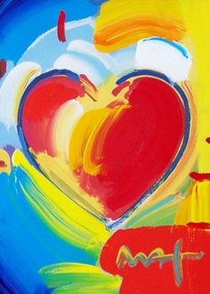 Peter Max - Heart Series II