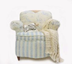 Charming Miniature French Toile Armchair on Etsy, $200.00