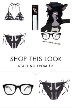 """""""Untitled #6691"""" by brainyxbat ❤ liked on Polyvore featuring Disney, INDIE HAIR and H&M"""