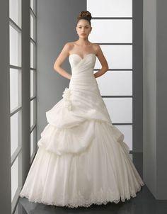 Ball gown sleeveless taffeta floor-length bridal gown