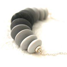 Grey Skies  Silver Grey to Black Ombre by ClareBashamDesigns, £44.00