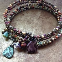 So without any grand plan last night I sat down to make some new memory wire bracelets. I threw some colors into the bead spinner and awa...