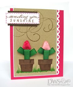 DeNami Ribbon Flowers card
