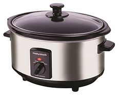 Morphy Richards 48715 Oval Slow Cooker, 6.5 L - Polished Stainless Steel