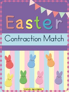 This Easter Contraction match is a great activity for whole or small groups and literacy centers.  $