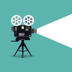 Retro cinema icon by Drum-magic on Camera Illustration, Graphic Illustration, Icon Illustrations, Film Background, Film Logo, Film Icon, Cinema Camera, Festival Posters, Film Festival