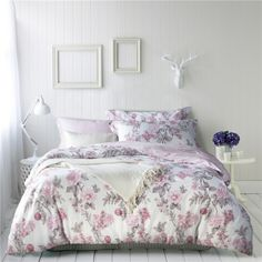 Teen Floral Duvet Cover Beddings for Sale 100% Cotton for Gift