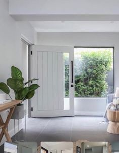 Home Renovation Front Door Greenery in window House Doors, House Entrance, Facade House, Home Renovation, Home Remodeling, Surf House, Secret House, Hallway Designs, Modern House Plans