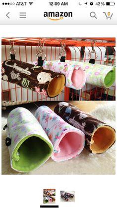 Rat hammock fleece tubes.