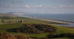 Dorset Coast Path Walking -  View to Portland from Abbotsbury