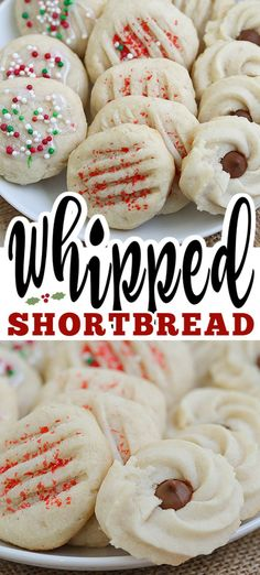 banking iii Whipped shortbread cookies are light as air with a delicious buttery flavor. These soft, melt in your mouth cookies are perfect for the holidays. Scottish Shortbread Cookies, Chocolate Shortbread Cookies, Shortbread Recipes, Buttery Cookies, Best Shortbread Cookie Recipe, Köstliche Desserts, Delicious Desserts, Dessert Recipes, Cookie Recipes