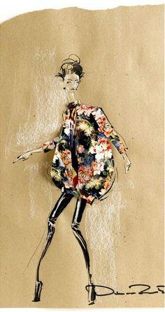Fashion illustration - floral fabulousness #design #prints #drawing
