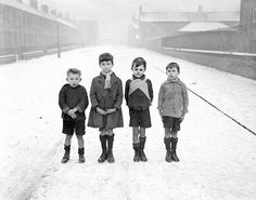 Poor children of Ashington in Northumberland, England [1929]