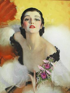 Rolf Armstrong more rouge, less cleavage. Rolf Armstrong, Vintage Images, Vintage Art, Vintage Ladies, Gil Elvgren, Estilo Pin Up, Art Deco Posters, Pin Up Art, Pin Up Girls