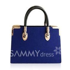 19.25 Elegant Women s Tote Bag With Metal and Splice Design 8013e16e09be2