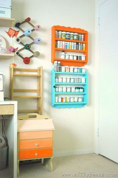 crafting supplies storage idea