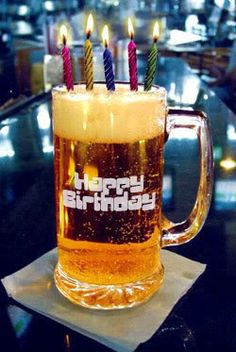 Happy BEERDAY for guy buddies - #Beer #Birthday #ecard
