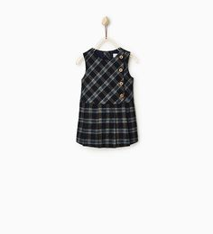 Image 1 of CHECKED PINAFORE DRESS from Zara