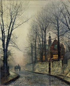 November Moonlight - John Atkinson Grimshaw