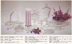 Diamond Point in Crystal - 1978 Indiana Glass Catalog