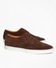 Suede Wingtip Sneakers $298 Brooks Brothers
