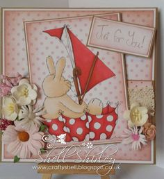Using a stampie and papers form the Cherryblossom Lane CD
