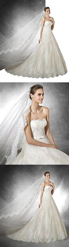Puauaula Diamond White 1 Tier 5M 2M/3M/5M/10M beautiful floral lace mosaic cathedral wedding veil vintage Bridal veil 22