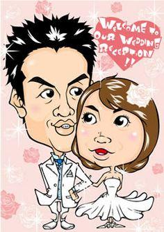 ウェルカムボード 似顔絵 http://wedding.mypic.jp/data/342