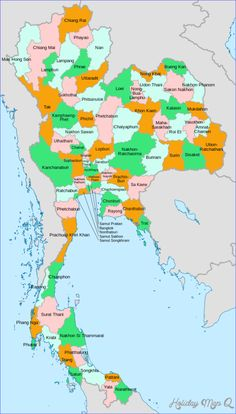 A clickable map of Thailand exhibiting its provinces. For a map lesson Need to add the compass with directionals. Thailand Adventure, Thailand Travel Guide, Thailand Destinations, Thailand Tourism, Bangkok, Thailand Pictures, Word Map, The Beautiful Country, Chiang Mai