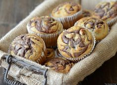 They are delicious!!  Banana Nutella Swirl Muffins! I MADE THEM :)    Recipes With Nutella: Cookies, Cakes And More (PHOTOS)
