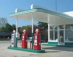 Old Gas Station Pumps I just Love those Days