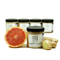 Grapefruit Ginger Sea Salt Scrub  by Naki Nagi