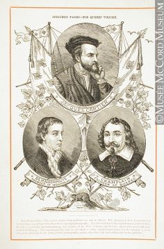 Jacques Cartier,  De Maisonneuve,  Champlain