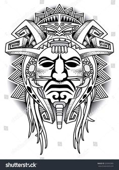 Aztec tattoos in the tribal form are equally popular as their colorful counterparts. Here is information on the meanings associated with some of the most popular Aztec designs. Aztec Tattoo Designs, Polynesian Tattoo Designs, Tattoo Sleeve Designs, Sleeve Tattoos, Aztec Tribal Tattoos, Totem Tattoo, Inka Tattoo, Mayan Tattoos, Indian Tattoos