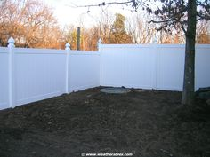 Block it all out with Savannah Vinyl Privacy Fence