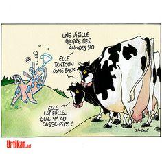 Le retour de la vache folle en France - Dessin du jour - Urtikan.net