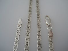 Sterling Silver 925 Small Mariner Link Necklace 20in by Replays