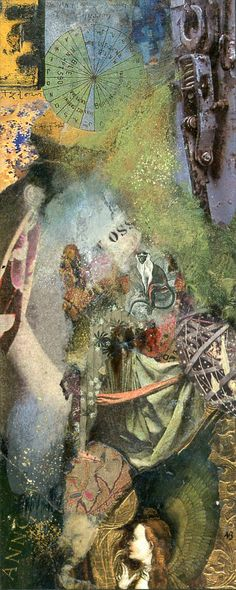 Magdala and the Monkey. Original collage by Nick Bantock.