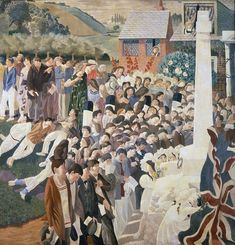 Stanley Spencer, Unveiling a War Memorial at Cookham, 1921