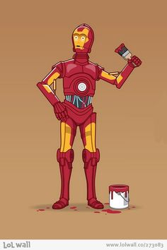 We all have dreams... #starwars #ironman