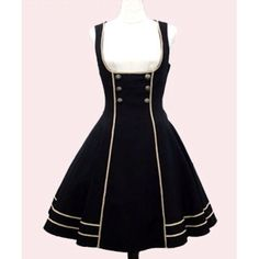 Petite - Plus Size Black Sleeveless Gothic Lolita Shirt Dresses SKU-11402855